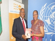 Mr. Ben Nangombe, Executive Director of the Ministry of Health and Ms. Dennia Gayle, UNFPA Representative.