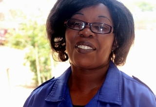 Elizabeth Kazapua is highly motivated by the changes in efficiency she witnesses at Epako Clinic as a result of the new model of service delivery. © UNFPA Namibia / Emma Mbekele