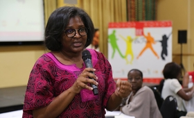 The First Lady of Namibia, Madam Monica Geingos.